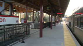 A train going through Madison Station stock video