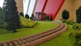 Toy model of the railway stock video