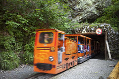 Train in gold mine in Zloty Stok in Poland. Stock Images