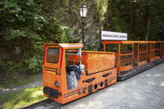Train in gold mine in Zloty Stok in Poland. Royalty Free Stock Photos