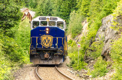 Train in a Gorge royalty free stock photography