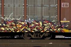 Train graffiti royalty free stock photos
