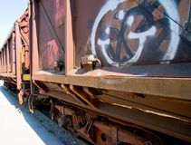 Train with graffiti Stock Photos