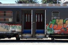 Train graffiti Stock Images