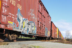 Train Graffiti Stock Image