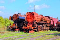 Train graveyard Royalty Free Stock Image