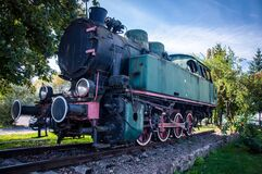 Train graveyards, Krakow, Poland Stock Photos