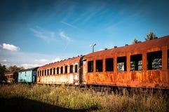 Train graveyards, Krakow, Poland Stock Image