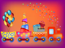 Train greeting card Stock Photography