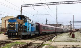 Train Handling, Constanta. stock photography