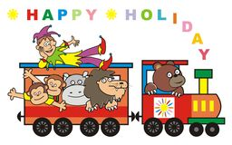 Train, happy holiday Stock Images