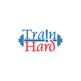 Train hard. Design abstract infographic front .Vector/illustration.train hard icon.sport club Royalty Free Stock Photography