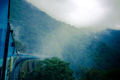 Train between haze and rain Royalty Free Stock Images