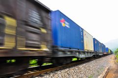 Train at high speed. Train at a high speed in china royalty free stock photography