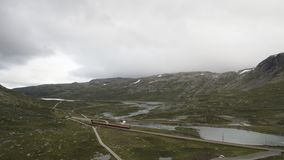 Train Through The Highland. In Norway stock video footage