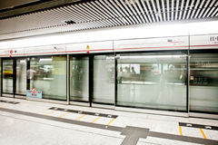 Train in Hong Kong underground Royalty Free Stock Photography