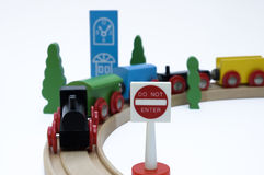 Train horizontal Photo libre de droits