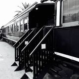 Train hotel. Hotel on an old locomotive Stock Images