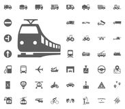 Train icon. Fast train icon. Transport and Logistics set icons. Transportation set icons.  Stock Photos
