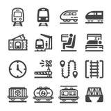 Train icon set. Vector and illustration royalty free illustration