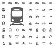 Train icon sign. Transport and Logistics set icons. Transportation set icons.  Royalty Free Stock Photos