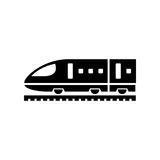 Train icon simple flat vector illustration. Speed train sign Royalty Free Stock Photos