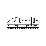 Train icon simple flat vector illustration. Speed train sign Stock Images