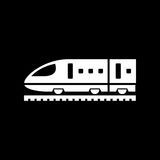 Train icon simple flat vector illustration. Speed train sign Royalty Free Stock Photo
