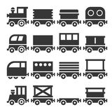 Train Icons Set Stock Images