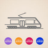 Train icons Royalty Free Stock Image