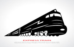 Train illustration. Vector clip art Royalty Free Stock Image
