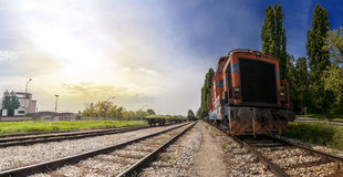 Train In The Countryside Royalty Free Stock Photography
