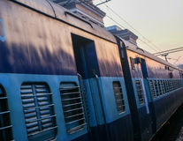 A train in India. At the station Royalty Free Stock Photography