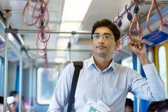 Train indien d'intérieur d'homme d'affaires photographie stock