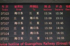 Train  information panel Royalty Free Stock Photo