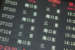 Train  information panel Stock Image