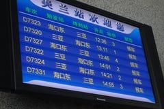 Train  information panel Royalty Free Stock Image