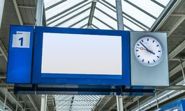 Train information sign royalty free stock photo