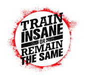 Train Insane Or Remain The Same. Workout and Fitness Motivation Quote. Creative Vector Typography Concept Royalty Free Stock Photo