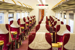 Train inside Royalty Free Stock Photo