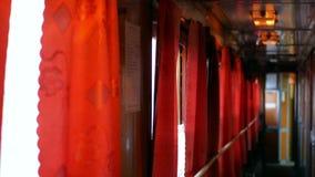 Train inside window light. Passenger train from inside light stock video