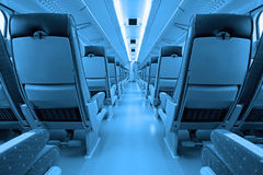 Train interior. Interior of the modern high-speed train Royalty Free Stock Photography