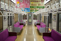 Train interior. Shot of the interior of a Japanese commuter train Stock Image