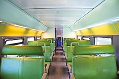 Train interior. Interior from a train in the Netherlands Stock Photography