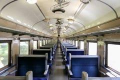 Train interior. Classic train seats and interior Stock Photos