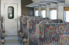 Train interior Royalty Free Stock Image