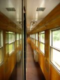 Train interior passageway Royalty Free Stock Photography