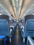 Train interiors perspective Stock Photos