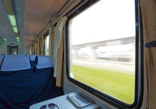 Train the internal. Clean the Chinese train interior pictures Royalty Free Stock Images