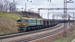 Train with iron ore Royalty Free Stock Photos